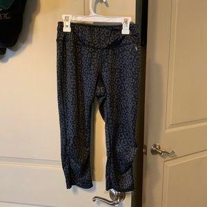 Capri workout pants, leopard print